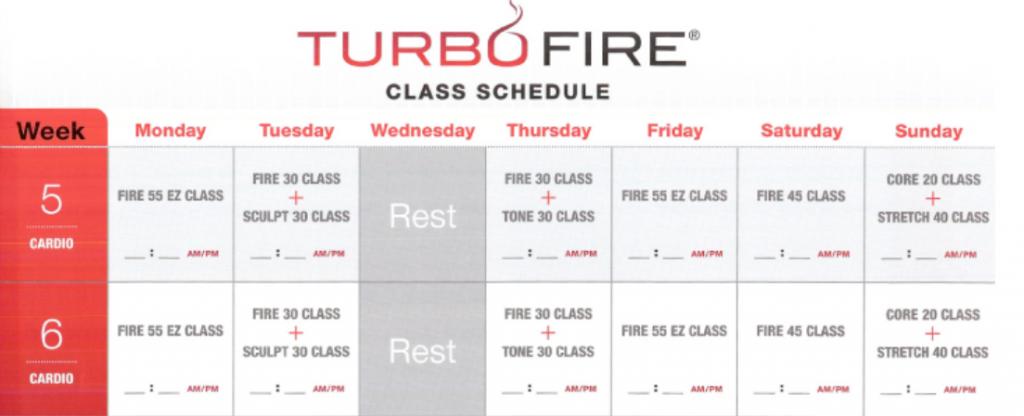 turbo fire week 5-8