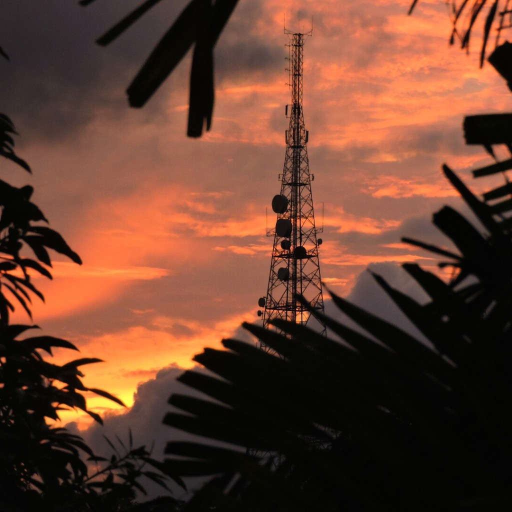 Captured this beautiful sunset from my home in Kuching.